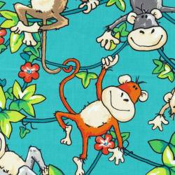 Affen - Zany Zoo by Fabri Quilt .