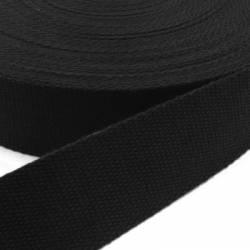 Gurtband Baumwolle SCHWARZ - 30 mm festere Qualität
