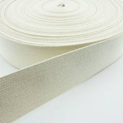 Gurtband Baumwolle NATUR - 30 mm festere Qualität