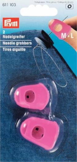 Nadelgreifer Silikon M+L  pink - PRYM
