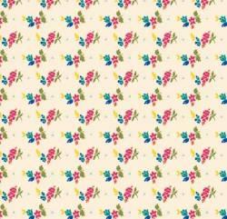 Penny Rose Fabrics - Creme Olivia Petals .