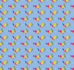 Penny Rose Fabrics - Blue Olivia Petals .