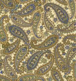Briarcliff blau braun  - Paisley allover