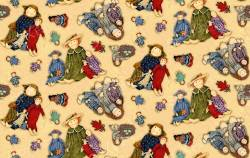 Primitive Dolls  - SPX Fabric Allover