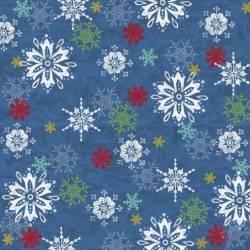 .Winter Joy - Schneeflocken auf Blau