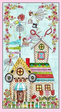 .The Quilted Cottage - Paneel 59 x 110 cm