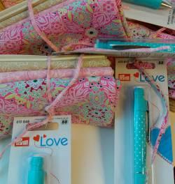 Fat Quarter Paket Pink LOVE - mit Minenstift