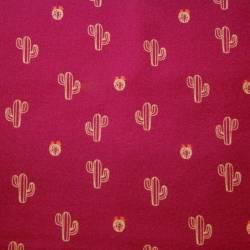 Llama Kakteen auf pink/fuchsiafarbenem Hintergrund  by  Indigofabrics
