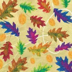 Autumn Hues - buntes Laub  auf Beige