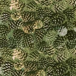 MINIBALLEN 1,20 Meter - Moose Lodge - Henry Glass Tannenzapfen grün