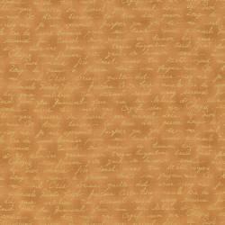 Quilters Basic feine goldene Schrift auf hellem Kupfer