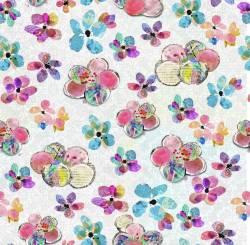 Boho by 3 Wishes- Blumen auf Marble Hintergrund