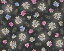 Enchanted Floral - Blüten auf schwarz - anthrazit - Grund