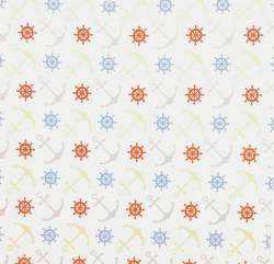 Anchor grau ocker blau auf Weiss 150 cm Breite  by  Indigofabrics