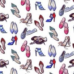 Shoes - auf weissem Hintergrund Indigofabrics 150 cm Breite