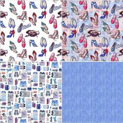 Fat Quarter Paket FASHION - by Indigofabrics 4 Stk. 75 x 50 cm