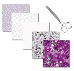 Fat Quarter Paket WITCHES MIT NÄHSCHERE - 5 FQ XL von Indigo Fabrics