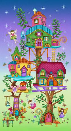 Fairy Land - Paneel Elfenhaus 60 x 110 cm