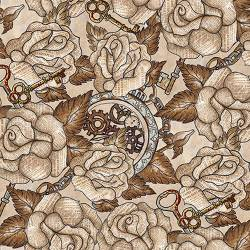 Unknown Voyage - Rosen mit Buchdruck by Blank Quilting