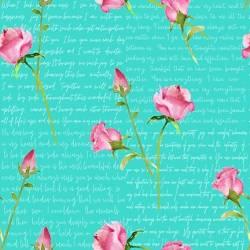 Love Letter - Henry Glass Rosen mit Schrift auf Mint