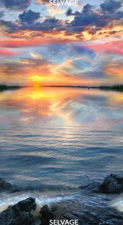 Sonnenuntergang - Sunset by Timeless Treasures Paneel