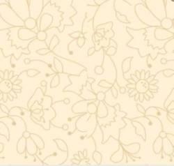 3 Meter Apple Cider P&B Textiles - Silhouetten von Blumen und Blättern