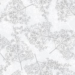 MINIBALLEN 0,80m Sparkle and Fade - Weiss auf Weiss- Silber
