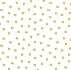 Mixology Luxe - Weiss mit goldenen Punkten - Camelot Fabrics