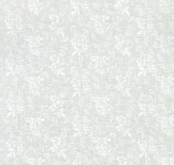 QUILT CLUB SPECIAL - 3 Meter Weiss auf CREME - Blüten in runden Ranken