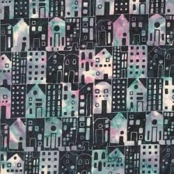 Hoffman Batik COTTON CANDY - Häuser