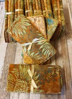 Fat Quarter Paket SONNENBLUMENWELT - Batik