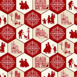 COUNTRY ROSE CLUB EXKLUSIV Home for the Holidays - Sechsecke - Studio E Fabrics