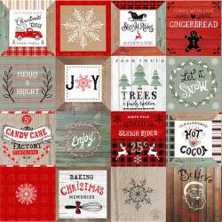 Christmas Memories - Minipaneele auf Paneel mit 63 x 110 cm Studio E Fabrics