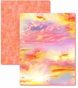 Quilter´s Duo - Sonnenuntergang - Timeless Treasures 2 x 0,5 Meter