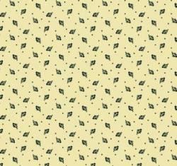 Marcus Fabrics - Full Circle - Dainty Buds -  dunkle kleine Knospen auf Beige