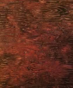 MINIBALLEN 0,45m Batik rotbraun Blätter - Hoffman California