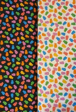 Quilter´s Duo 2 x 0,5 Meter - Gummibärchen - Jelly Bears