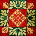 Pohihihi - Hawaiianischer Quilt, Muster