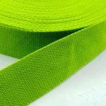 Gurtband Baumwolle HELLGRUEN - 30 mm festere Qualität