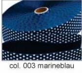 Gurtband 30mm blau Tupf