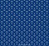 Maritim weisse Anker auf Blau  by  Indigofabrics