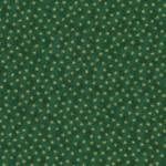 Quilters Basic Dunkelgrün mit feinen goldenen Sternen