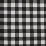 Gingham schwarz weiss  by  Indigofabrics
