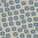 Quilters Basic stilisierte Blüten auf Creme  in Blau
