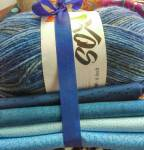 StoffWollPaket -  Blaues Fat Quarter Paket
