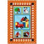 Feuerwehrquilt - Fixpackung 90 x 138 cm Crib Size/Kinderbettgröße