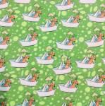 Steinbeck Käfer im Boot - auf grünem Hintergrund