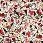 Paper Rose - Timeless Treasures BLACK ROSE