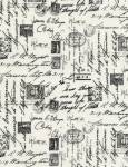 Script Cream Noir - Timeless Treasures