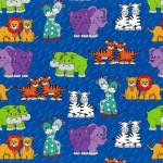 Little Noah - bunte Tiere auf Blau
